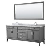 Margate 80 Double Bathroom Vanity Set with Mirror by Wyndham Collection