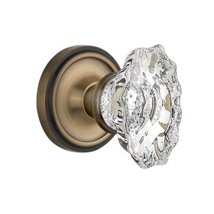 Chateau Interior Mortise Door Knob with Classic Rosette by Nostalgic Warehouse