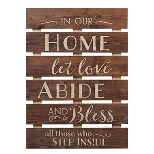 Skid Sign In Our Home Let Love Abide Wall Décor