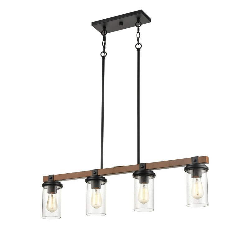 Breakwater Bay Vedant 4 Light Kitchen Island Linear Pendant Wayfair