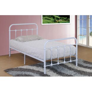 Hansen Metal Twin Slat Bed by Harriet Bee