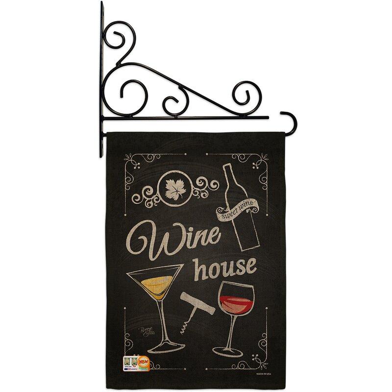 Breeze Decor Wine House Happy Hour And Drinks 2 Sided Burlap 19 X 13 In Garden Flag Wayfair