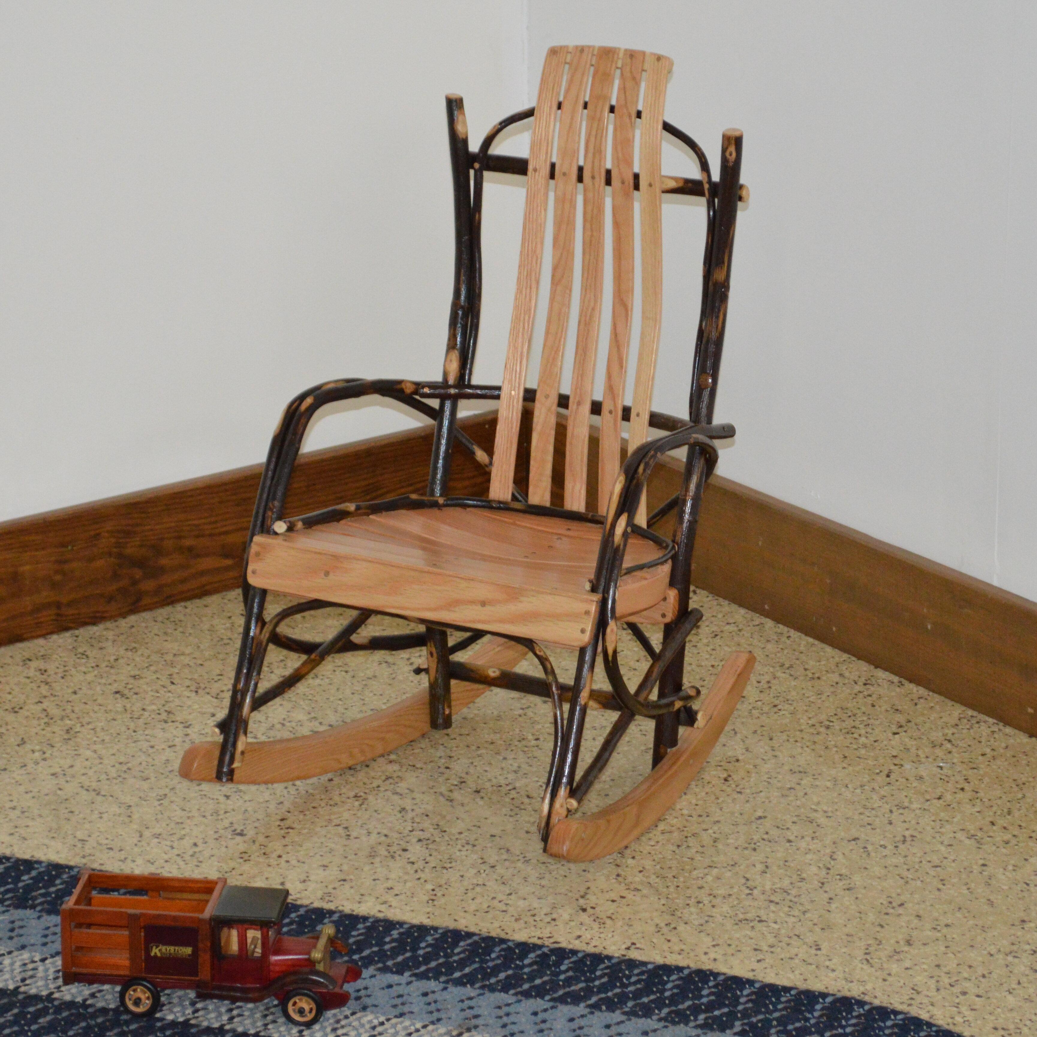& Loon Peak Wisser Hickory Child Rocking Chair   Wayfair