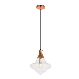 Mistana Amiya 1-Light Schoolhouse Pendant