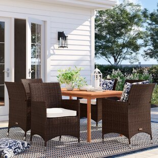 Brighton 7 Piece Eucalyptus Dining Set With Cushions