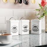 Coffee Tea Sugar Canisters Wayfair