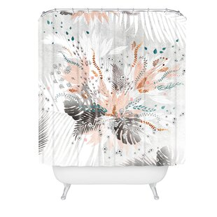 Iveta Abolina Tropical Silver Single Shower Curtain