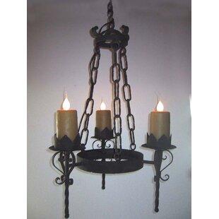 Gothic chandelier wayfair gothic 3 light wagon wheel chandelier aloadofball Images