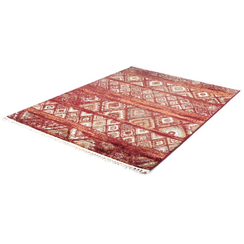 World Menagerie Breithaup Dark Red Rug