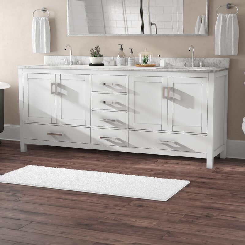 Wyndham Collection Sheffield 80 Double Bathroom Vanity Set Reviews Wayfair