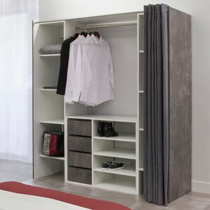1853cm wide clothes storage system