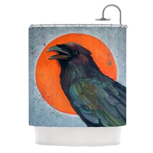 Raven Sun Shower Curtain