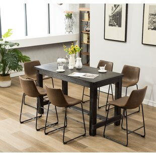 Bamey 7 Piece Counter Height Dining Set