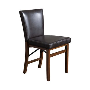 Millwood Pines Oshea Genuine Leather Upholstered Dining Chair (Set of 2)