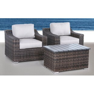 Dayse 3 Piece Conversation Set With Cushions By Sol 72 Outdoor