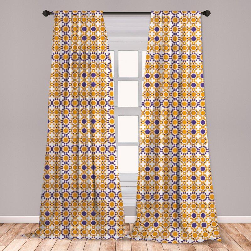 East Urban Home Ethnic Room Darkening Rod Pocket Curtain Panels Wayfair