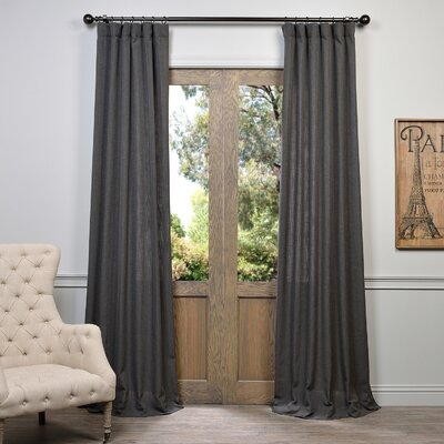 "Half Price Drapes Solid Semi-Sheer Rod Pocket Single Curtain Panel Size per Panel: 50"" W x 84"" L, Colour: Slate Grey"