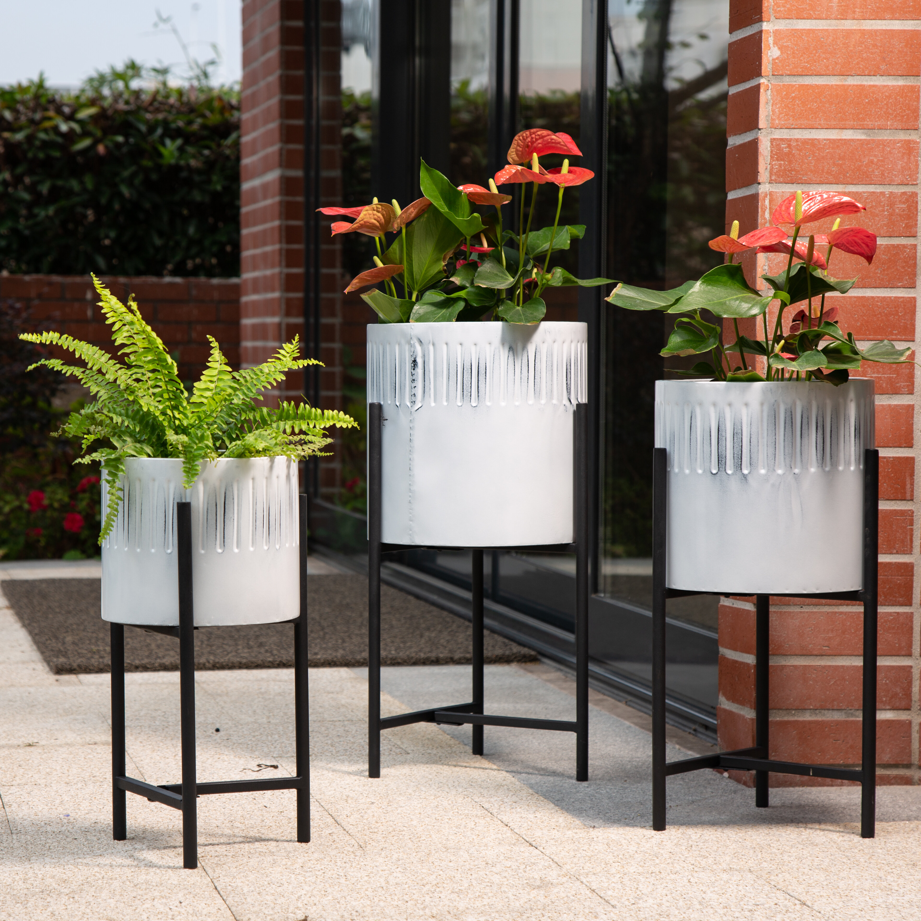 Metal Gracie Oaks Plant Stands Tables You Ll Love In 2021 Wayfair