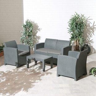 Darla 4 Seater Rattan Corner Sofa Set By Zipcode Design