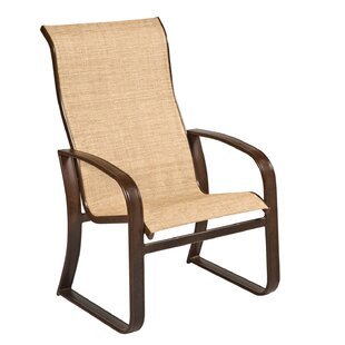 Cayman Isle Sling High-Back Patio Dining Chair by Woodard