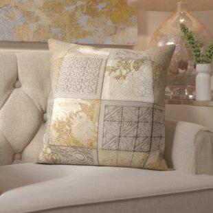 Surrey Natural Leather Throw Pillow