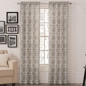 livio damask room darkening rod pocket curtain panels set of 2
