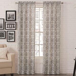 Livio Damask Semi-Opaque Rod Pocket Curtain Panels (Set of 2)