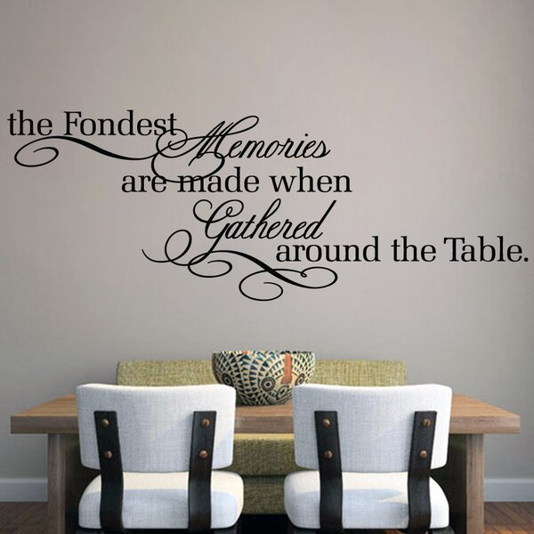 & SweetumsWallDecals The Fondest Memories Wall Decal u0026 Reviews | Wayfair