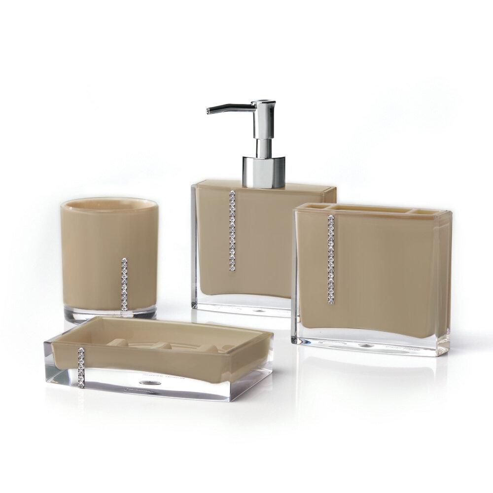 Immanuel Cristal 4-Piece Bathroom Accessory Set | Wayfair