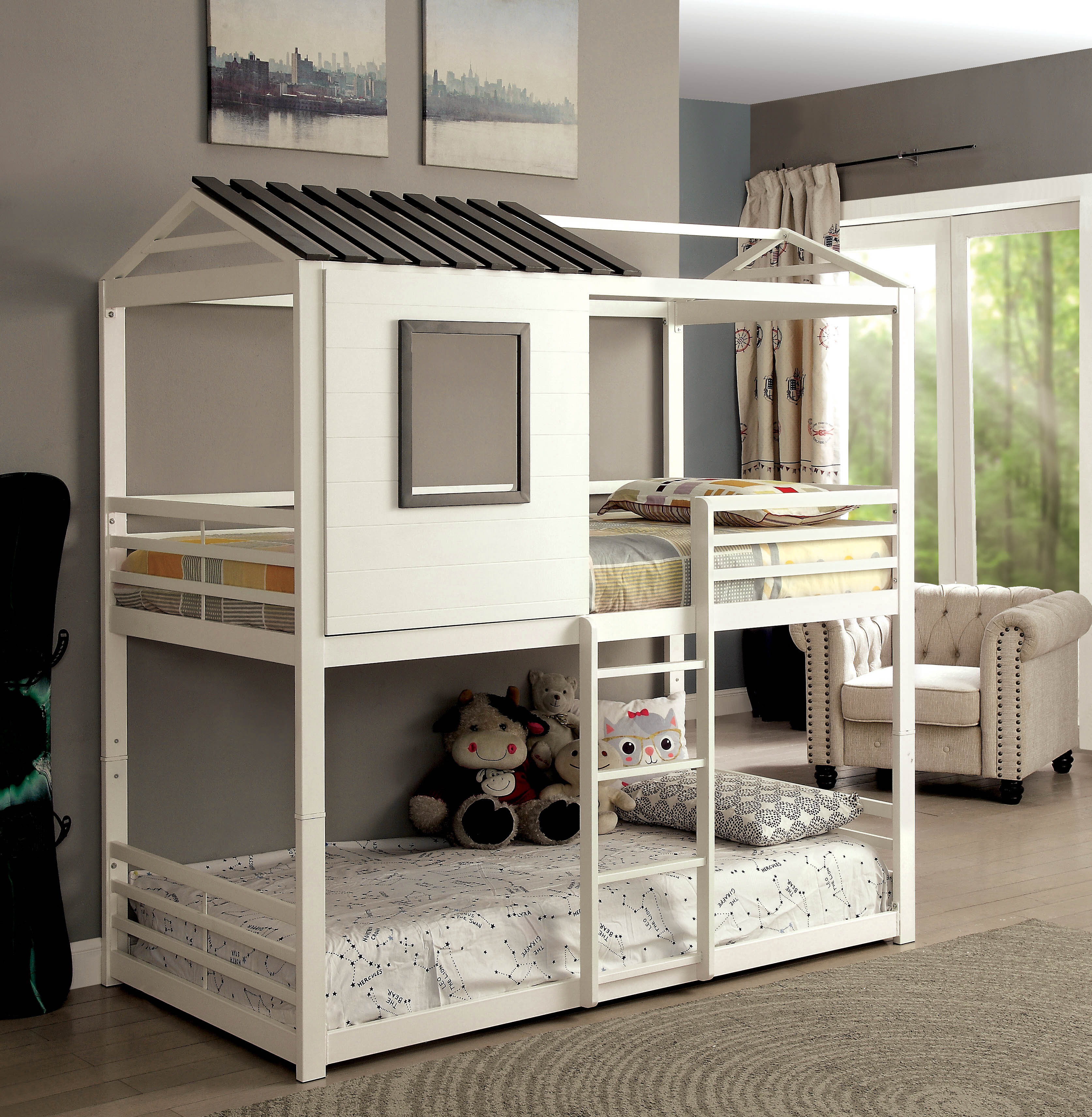 Picture of: Harriet Bee Odum Novelty House Twin Bunk Bed Reviews