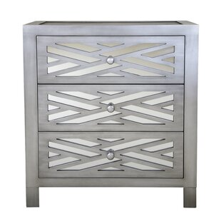 Rosanna Lattice 3 Drawer Accent Chest