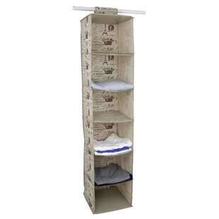 Compare prices Paris 6 Compartment Hanging Organizer By Home Basics