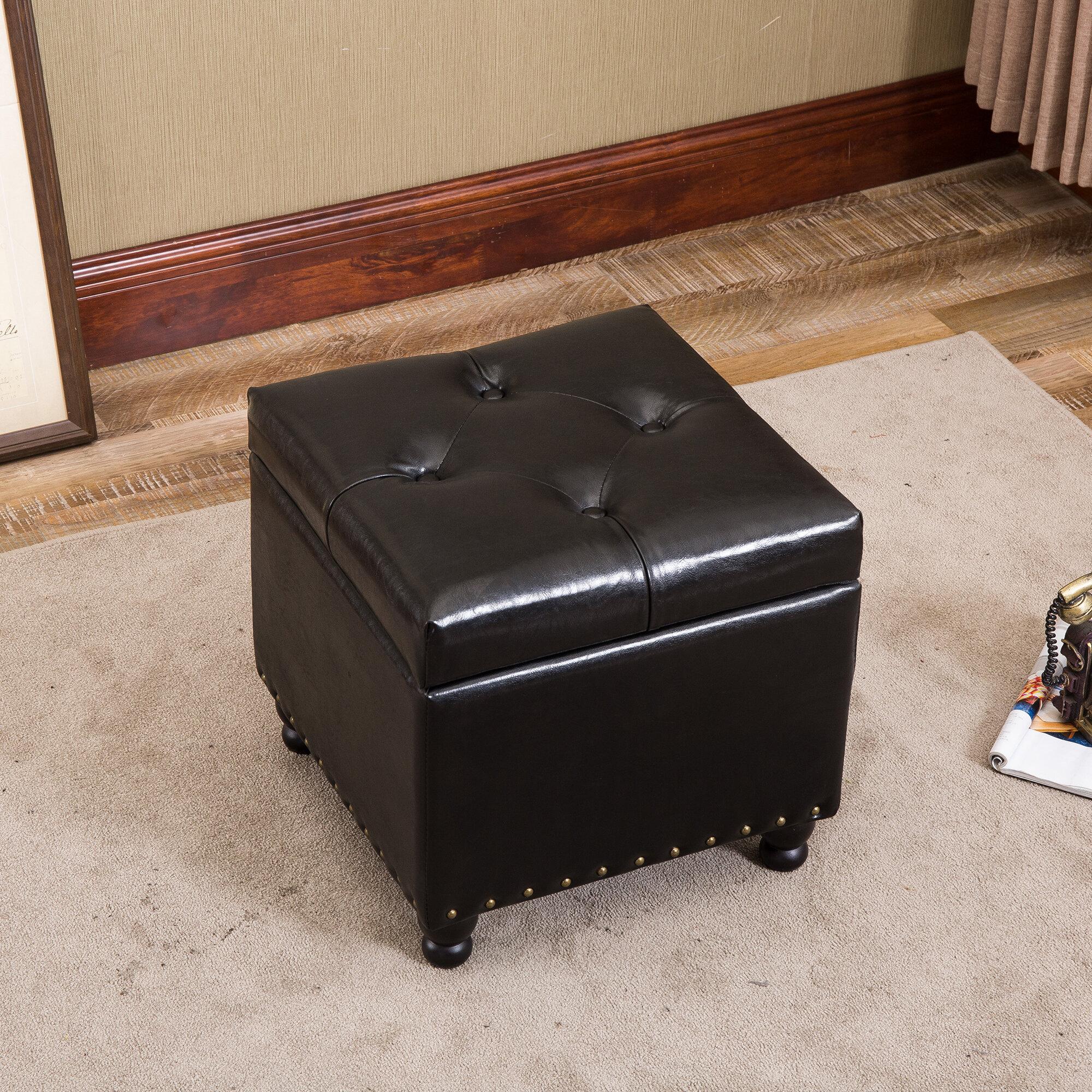 Cool Ventura Tufted Storage Ottoman Machost Co Dining Chair Design Ideas Machostcouk