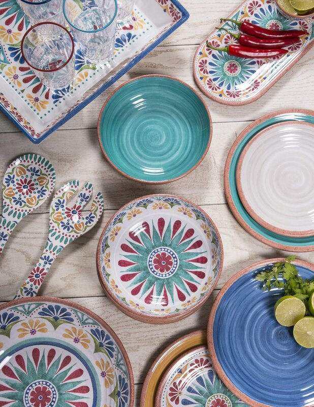 Adkins 16-Piece Melamine Dinnerware Set & Mistana Adkins 16-Piece Melamine Dinnerware Set \u0026 Reviews | Wayfair