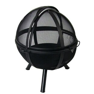 Layla Sphere Flaming Ball Steel Wood Burning Fire Pit By Alcott Hill