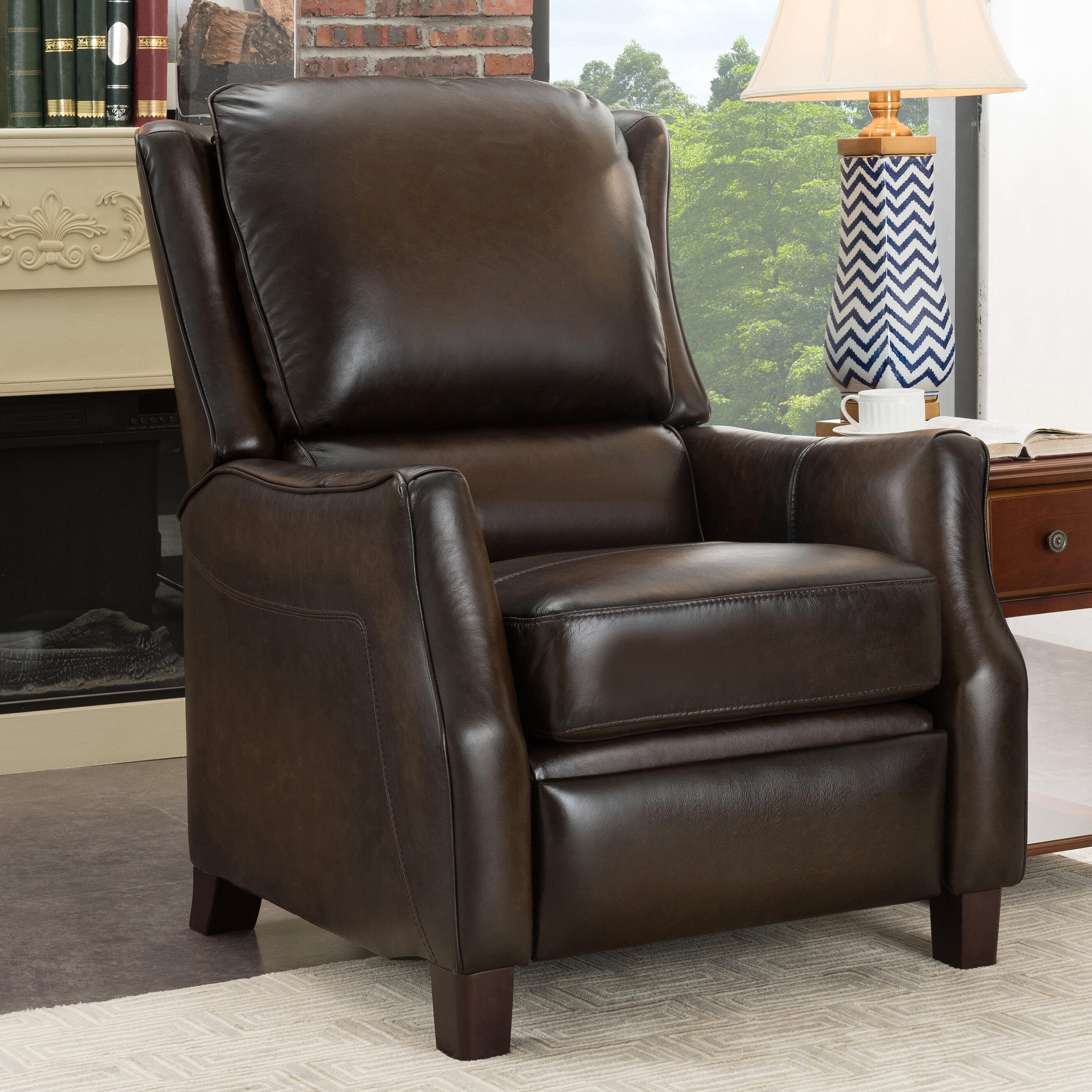 Super Yeates Premium Leather Manual Recliner Bralicious Painted Fabric Chair Ideas Braliciousco