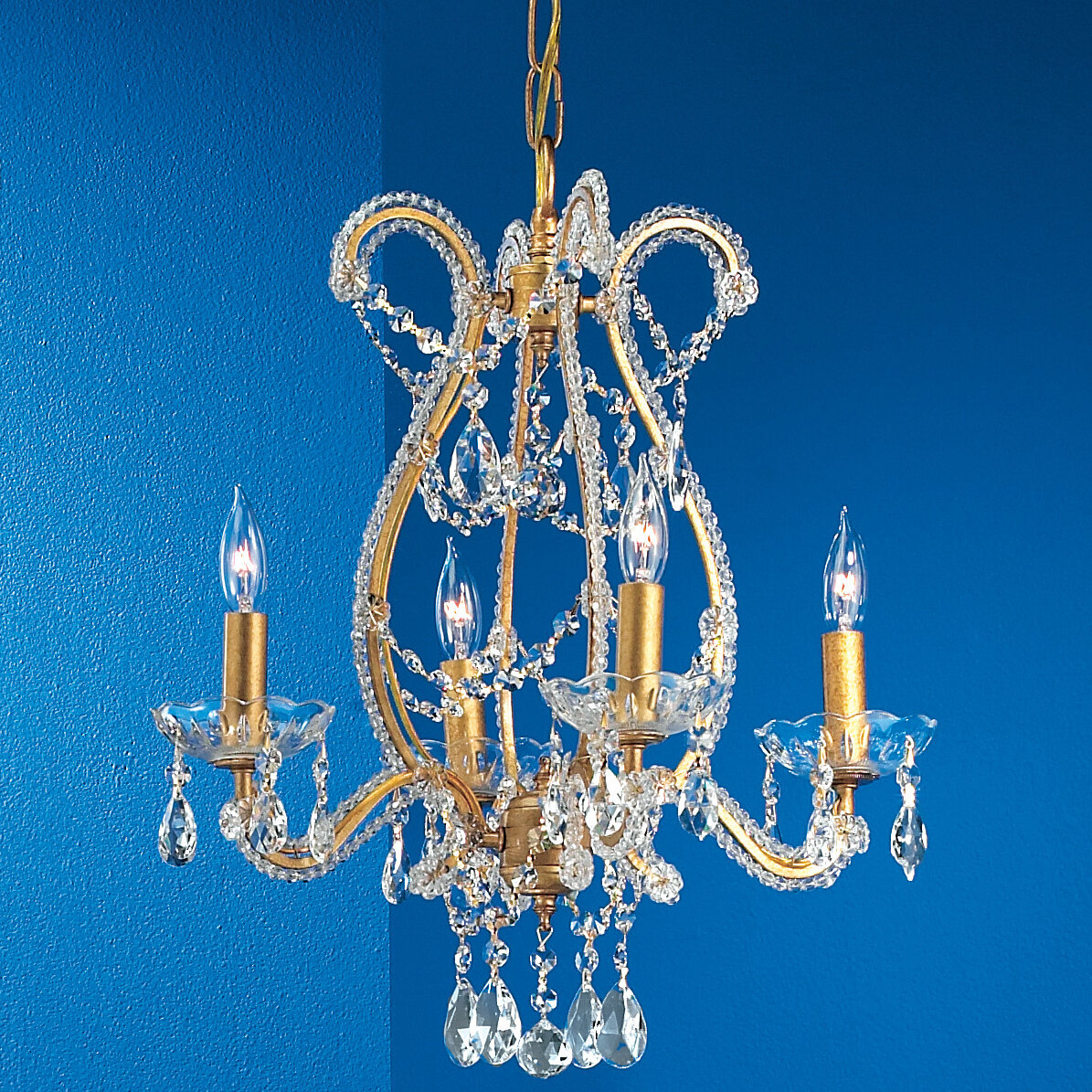 Classic Lighting Aurora 4 Light Candle Style Classic Traditional Chandelier Wayfair