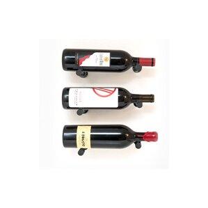 Vino Pins 3 Bottle Wall Mounted Wine Bott..