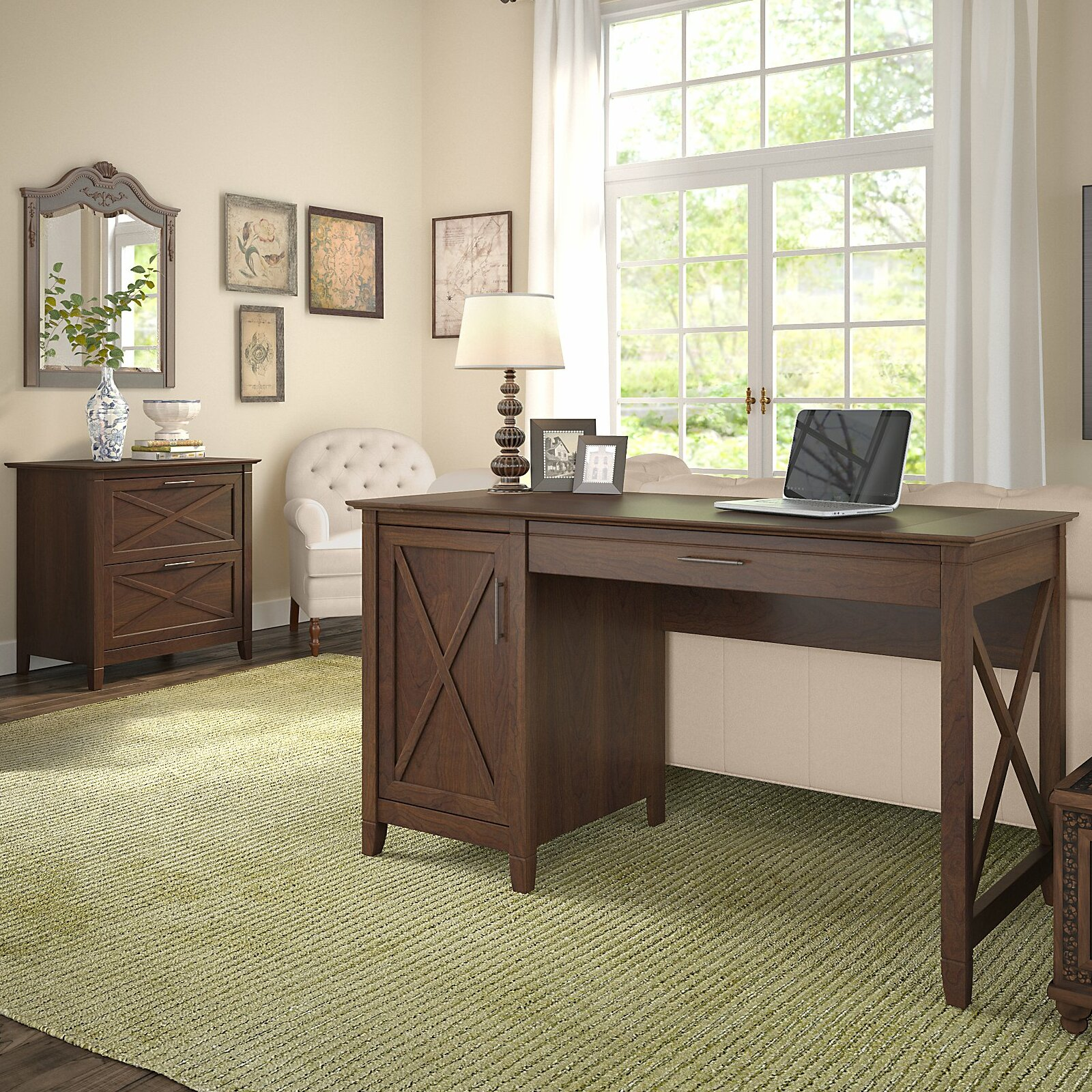 quality design 8ac65 8565e Oridatown Computer Desk with Storage and 2 Drawer Lateral File Cabinet