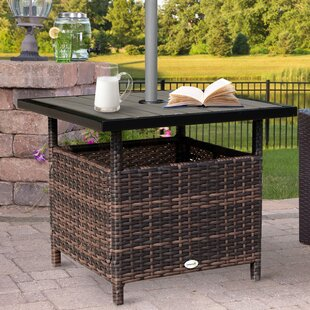 Alec Wicker Outdoor Side Table