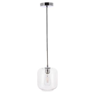 Vallie 1-Light Jar Pendant by Wrought Studio