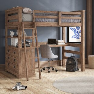 Elise Industrial Loft Twin Bed with 4 Drawer Chest by Grovelane Teen