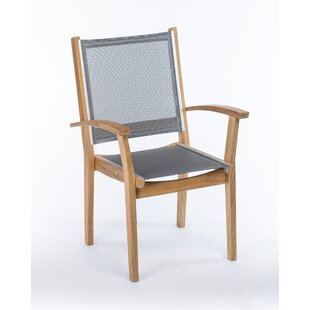 Earls Stacking Teak Patio Dining Chair (Set of 4) by Rosecliff Heights