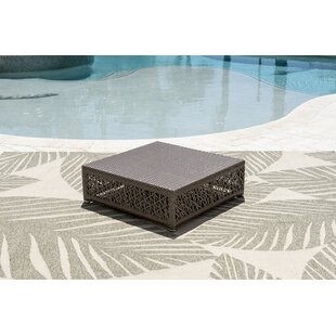 Maldives Glass Coffee Table by Panama Jack Outdoor