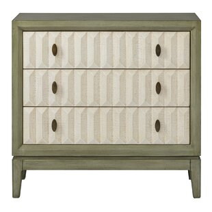 Bayou Breeze Ariya 3 Drawer Accent Chest