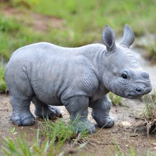 Hi Line Gift Ltd Baby Rhino Figurine Amp Reviews Wayfair