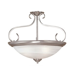Stocksbridge 3-Light Semi-Flush Mount by Fleur De Lis Living