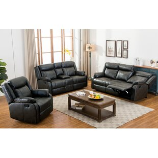 Novia 3 Piece Reclining Living Room Set by Roundhill Furniture