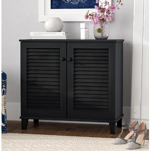 Darby Home Co Baxton Studio 14-Pair Shoe Storage Cabinet