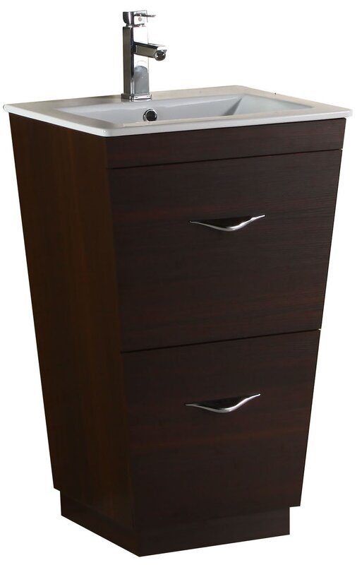 W x 21 in. D Unassembled Vanity Cabinet Only in White